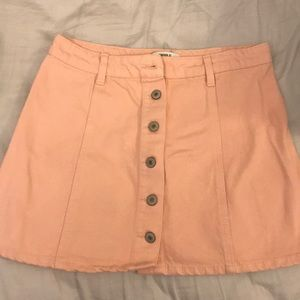 Forever 21 Pink Button Skirt